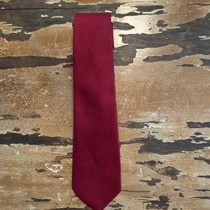 Christian Dior tie burgundy with blue dots
